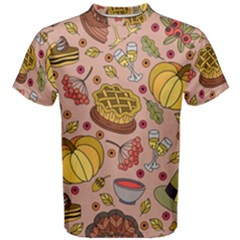 Thanksgiving Pattern Men s Cotton Tee by Sobalvarro