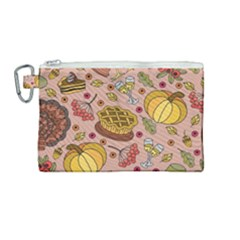 Thanksgiving Pattern Canvas Cosmetic Bag (medium) by Sobalvarro
