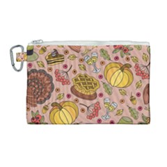 Thanksgiving Pattern Canvas Cosmetic Bag (large) by Sobalvarro