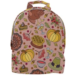 Thanksgiving Pattern Mini Full Print Backpack by Sobalvarro