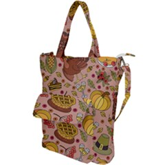 Thanksgiving Pattern Shoulder Tote Bag by Sobalvarro