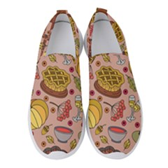 Thanksgiving Pattern Women s Slip On Sneakers by Sobalvarro