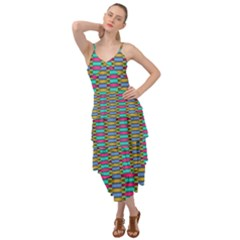 Seamless Tile Pattern Layered Bottom Dress