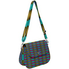 Seamless Tile Pattern Saddle Handbag by HermanTelo