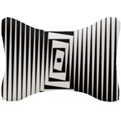 Background Black White Design Seat Head Rest Cushion by Mariart