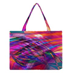 Wave Lines Pattern Abstract Medium Tote Bag