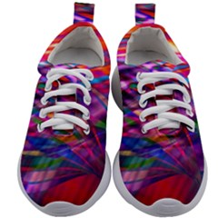 Wave Lines Pattern Abstract Kids Athletic Shoes