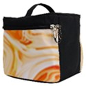 Orange liquid marble Make Up Travel Bag (Small) View2