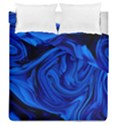 Blue liquid marble Duvet Cover Double Side (Queen Size) View1