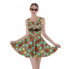 Colorful Modern Geometric Print Pattern Skater Dress by dflcprintsclothing