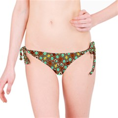 Colorful Modern Geometric Print Pattern Bikini Bottom by dflcprintsclothing