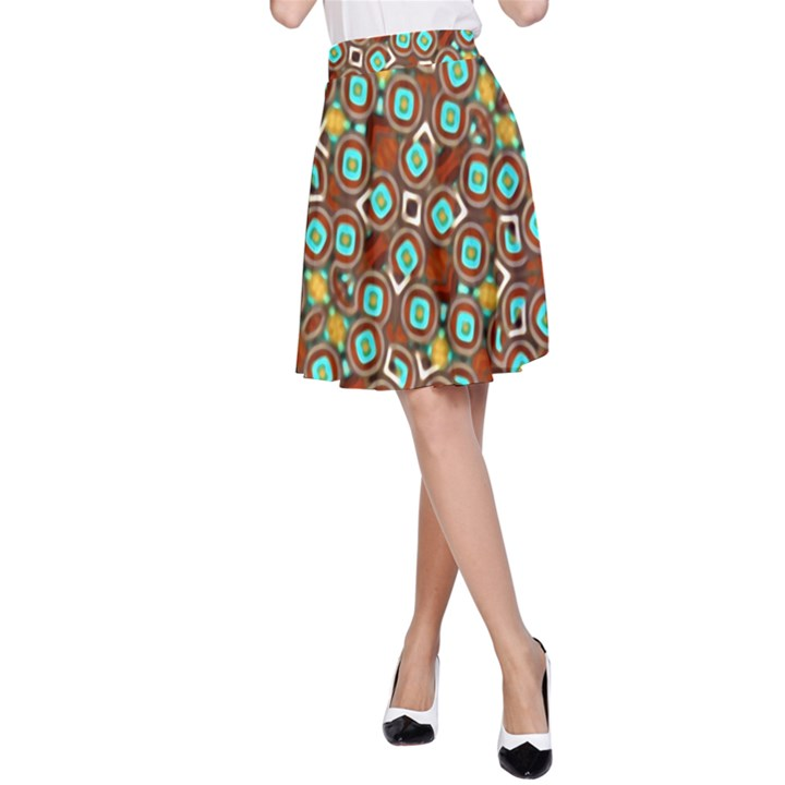 Colorful Modern Geometric Print Pattern A-Line Skirt