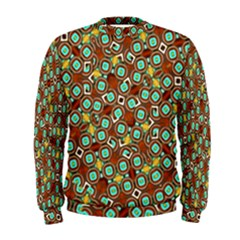 Colorful Modern Geometric Print Pattern Men s Sweatshirt by dflcprintsclothing