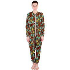 Colorful Modern Geometric Print Pattern Onepiece Jumpsuit (ladies)  by dflcprintsclothing