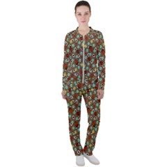 Colorful Modern Geometric Print Pattern Casual Jacket And Pants Set by dflcprintsclothing