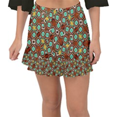 Colorful Modern Geometric Print Pattern Fishtail Mini Chiffon Skirt by dflcprintsclothing