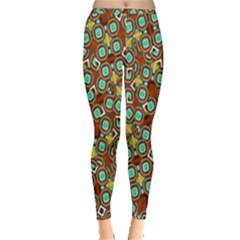 Colorful Modern Geometric Print Pattern Inside Out Leggings