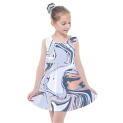 Metallic Marble Kids  Summer Dress