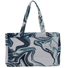 Liquid Metal Marble Canvas Work Bag