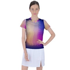Abstract Fantasy Women s Mesh Sports Top