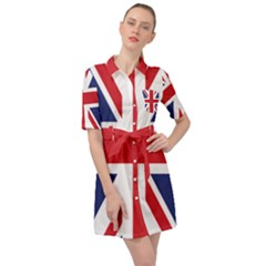 Union Jack Belted Shirt Dress