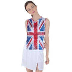 Grunge Union Jack Women s Sleeveless Mesh Sports Top by goljakoff