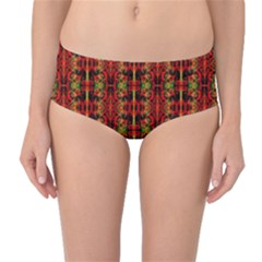 Ab 102 1 Mid-waist Bikini Bottoms by ArtworkByPatrick