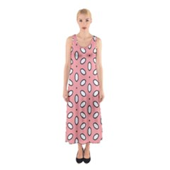 Pink Background Texture Sleeveless Maxi Dress