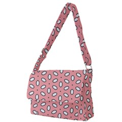 Pink Background Texture Full Print Messenger Bag (l)
