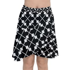 Abstract Background Arrow Chiffon Wrap Front Skirt