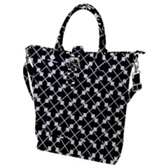Abstract Background Arrow Buckle Top Tote Bag