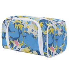Blue And Yellow Paint Toiletries Pouch by goljakoff