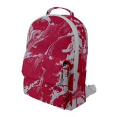 Red Paint Flap Pocket Backpack (large)