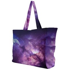 Purple Space Simple Shoulder Bag