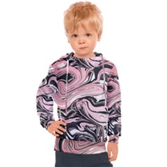Black Rose Paint Kids  Hooded Pullover
