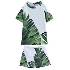 Banana Leaves Kids  Swim Tee And Shorts Set