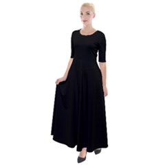 Black Half Sleeves Maxi Dress