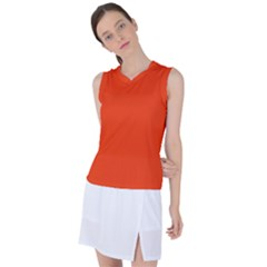 Cherry Tomato Women s Sleeveless Mesh Sports Top by goljakoff