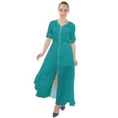 Marrs Green Waist Tie Boho Maxi Dress