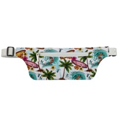 Summer Surfing Pattern Active Waist Bag