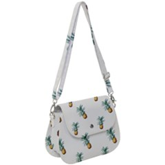 Pineapples Pattern Saddle Handbag by goljakoff