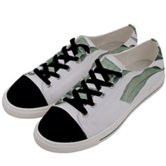 Green Leaf Men s Low Top Canvas Sneakers by goljakoff