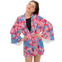 Abstract Organic Pattern Long Sleeve Kimono