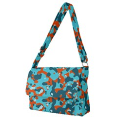 Abstract Organic Pattern Full Print Messenger Bag (l)