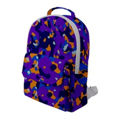 Abstract Organic Pattern Flap Pocket Backpack (large)