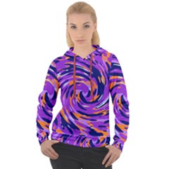 Abstract Organic Pattern Women s Overhead Hoodie