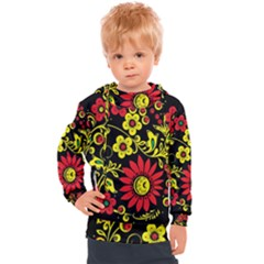 Russian Khokhloma Kids  Hooded Pullover