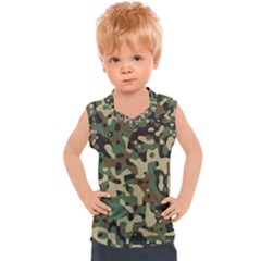 Army Pattern  Kids  Mesh Tank Top