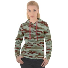 Brown And Green Camo Women s Overhead Hoodie