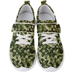 Dark Green Camouflage Army Men s Velcro Strap Shoes by McCallaCoultureArmyShop